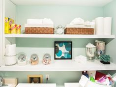 Stuck with a super tiny laundry room? Make the most of it with these super clever storage ideas.