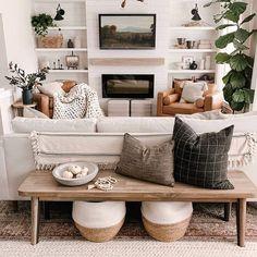 Boho Living Room, Living Room Interior, Home And Living, Living Area, Fresh Living Room, Small House Living, Modern Farmhouse Living Room Decor, Cozy Living Rooms, Living Room Inspiration