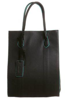 Shopping Bag - black/turquoise