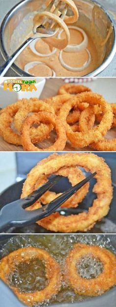 delicious easy snack and … – Recipes Snacks Für Party, Easy Snacks, Easy Meals, Yummy Food, Tasty, Onion Rings, I Foods, Love Food, Food Porn
