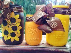 Sunflower Mason Jar Set