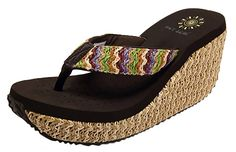 Ace Womens Thong Platform High Wedge Sandals Slippers Shoes *** Details can be found by clicking on the image.