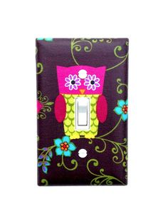 Owl Light Switch Plate Cover / Nursery Wall Decor / by SSKDesigns, $16.00