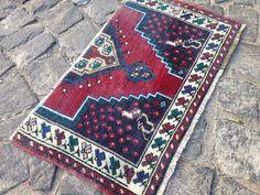 Turkish Door Mat Rug,Wool Kilim Rug, Vintage Boho Deco, Small Rug, Tribal Rug x = 66 x 40 cm Rugs On Carpet, Carpets, Bohemian Rug, Boho, Aztec Rug, Types Of Rugs, Entry Rug, Small Rugs, Kilim Rugs