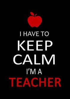 """I Have to Keep Calm, I'm a Teacher"" Unisex T-shirt – We Appreciate Teachers Teacher Humour, Teacher Appreciation Quotes, Teacher Posters, Teaching Humor, Teaching Quotes, Education Quotes, Leadership Quotes, Teacher Images, Classroom Humor"