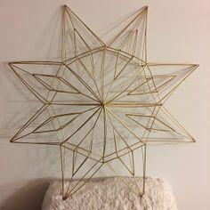 Innostu-Onnistut: Tähti iso - OHJE Geometric Decor, Geometric Designs, Diy And Crafts, Christmas Crafts, Mobile Sculpture, Parol, Star Wars, Old Postcards, Weaving