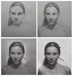 First strokes to finished charcoal sketch of... - David Jon Kassan