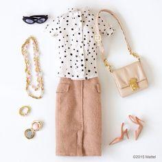 """Gotta love a pencil skirt! ✏️ #barbie #barbiestyle"""