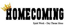 Homecoming is Coming! -- Theme Dress Up Day Ideas Homecoming is Coming! -- Theme Dress Up Day Ideas School Spirit Days, School Days, Spirt Week Ideas, Homecoming Spirit Week, Homecoming Ideas, Pep Club, Catholic Schools Week, High School Cheer, Dance Themes
