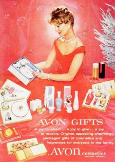 Avon 1950s. Avon continues it's tradition of offering gift items for everyone in the family!!!  You can become an Avon Representative and earn income, opportunity to earn bonuses, purchase YOUR products at a discount and so much more!  Sign up today at www.startavon.com Reference Code:  drosloniec   Enjoy shopping on my Avon online store at www.youravon.com/drosloniec  Have a great Avon day!