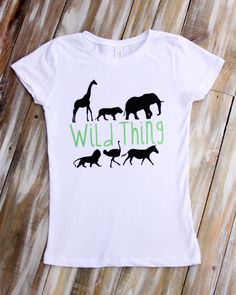 Wild Thing Zoo Animal Shirts and Onesies for Boys & Girls by CutesyTDesigns on Etsy