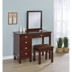 Shop for Furniture of America Fivo Transitional White Vanity Table Set. Get free delivery On EVERYTHING* Overstock - Your Online Furniture Store! Get in rewards with Club O! Online Furniture Stores, Furniture Deals, Bedroom Furniture, Home Furniture, Vanity Table Set, Vanity Set With Mirror, Vanity Desk, Corner Vanity, Space Saving Bedroom