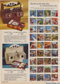 : Page Background Vintage Toys 1960s, 60s Toys, Retro Toys, My Childhood Memories, Childhood Toys, Background Retro, Bright Pictures, View Master, Christmas Books