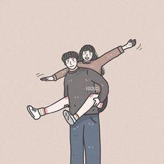Chibi Couple, Manga Couple, Couple Cartoon, Couple Art, Cute Couple Wallpaper, Cute Couple Drawings, Cute Love Cartoons, Drawing Wallpaper, Cartoon Profile Pictures
