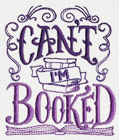 Booked Up - Can't I'm Booked design (UT11289) from UrbanThreads.com