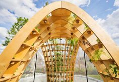 Loop.pH designed the Nine Elms Horticultural Spa & Apothecary Experience, a temporary architectural structure by the River Thames.