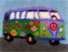 Peace Van Rugmaking Kit. Peace & Love