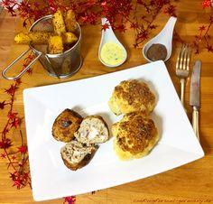 Gefüllte Kalbshackbällchen mit Steckrüben-Pommes und Ofenblumenkohl - lowcarb Abendessen mit würzigen Gemüsepommes und einem knackigen Blumenkohl.