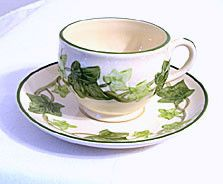 Gladding McBean - Franciscan Ivy - Cup & Saucer Sets - Lot of 3 - USA