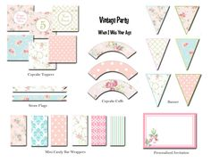 Vintage Party Printable Collection