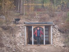 Fall building - the roof of the root cellar is in place, but not the front walls.  Winter will tell the tale...