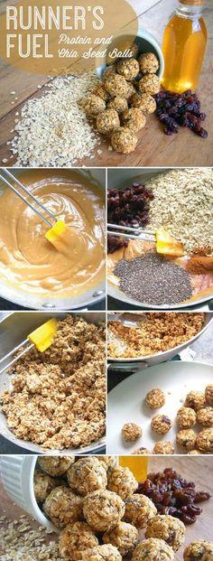 Ingredients• ½ cup natural, creamy peanut butter• ½ cup honey• ½ teaspoon vanilla• 3 cups quick oats• 1/4 teaspoon salt• 1 teaspoon cinnamon• ½ cup raisins• 3 tablespoons chia seeds