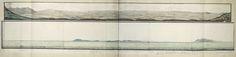 anoniem   Panorama van Cannaland, attributed to Robert Jacob Gordon, 1777 - 1778   Panorama van Cannaland. Tekst ontsloten door middel van een gidskaart met delen A t/m D.