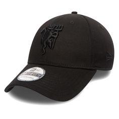 Adult New Era Black Manchester United Logo 39THIRTY Flex Hat