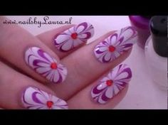 Valentijns tutorial water marble nails