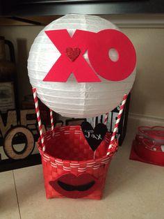 Valentine mailbox hot air balloon