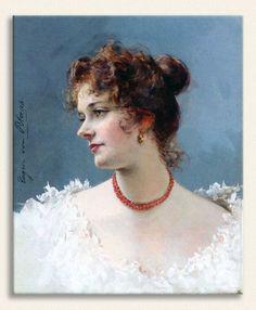 Eugene de Blaas, Bir Kadın Portresi