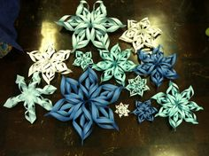 Fayette Woman celebrates Paper Snow Day on Dec 27th.  paper snowflakes