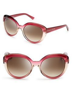 kate spade new york Chelsea Round Cat Eye Sunglasses | Bloomingdale's