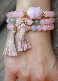 Armband Buddha Pastell - Jade