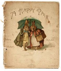 The art of Illustration. A Happy Pair illustrated by Beatrix Potter.
