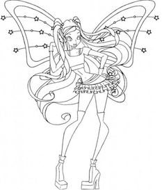Winx Club Coloring Pages by zcoloringpages