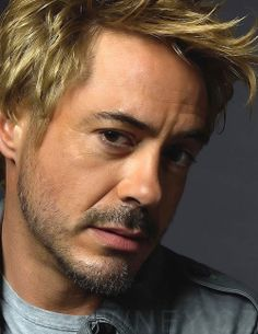 Robert Downey Jr....wtf is with the blond hair dude...I'd still do you though