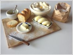 miniature homemade bread   by 2smartminiatures  www.2smartminiatures.com