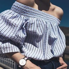 Love this top! All about stripes!