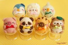 羊毛毡蛋形动物. Cute animals.