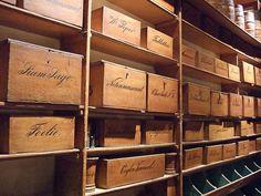 ship chandlers warehouse shelves