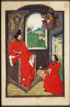 The author presents his book to Philip the Good, Duke of Burgundy