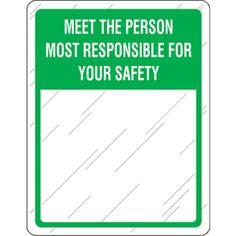 Green Safety Slogan Mirror
