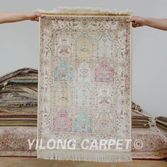 Yilong 2.1'x3.1' Oriental silk carpet garden design handmade exquisite four season rugs (1171)