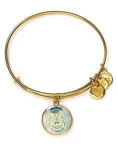 "Alex and Ani Art Infusion Hand of Fatima Expandable Wire Bangle | Made in USA | 2.25"" diameter 