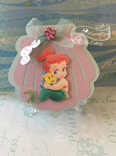 from etsy disney baby ariel seashell invitation disney baby ariel