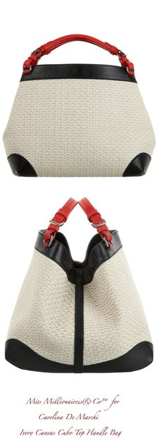 Caroline De Marchi 2015 - Ivory Canvas Cubo Top Handle Bag