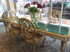 gilded dining room table