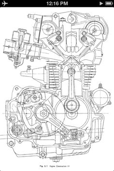 Motorcycle Engine Diagram Engineering Drawings and Cb K Engine Cross-Section Drawing Mechanical Engineering Design, Engineering Tools, Mechanical Design, Engineering Quotes, Marine Engineering, Architectural Engineering, Industrial Engineering, Environmental Engineering, Paper Engineering
