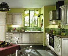 El color verde en la cocina - http://www.decoora.com/el-color-verde-en-la-cocina/